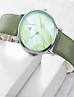 Недорогие -электронные часы Кварцевый Искусственная кожа Коричневый / Зеленый обожаемый Аналоговый Мода - Коричневый Зеленый
