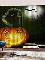 Недорогие -Хэллоуин тыква шторы готовые простые современные тайские тени занавес ткани для гостиной / спальни