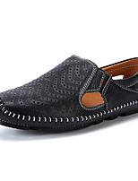 Недорогие -Муж. Комфортная обувь Искусственная кожа Лето Мокасины и Свитер Черный / Белый / Синий