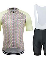 Недорогие -MUBODO Муж. С короткими рукавами Велокофты и велошорты-комбинезоны Розовый Клетки Велоспорт Наборы одежды Дышащий Влагоотводящие Быстровысыхающий Анатомический дизайн Со светоотражающими полосками