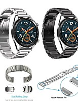 Недорогие -Ремешок для часов для Huawei Watch GT Huawei Классическая застежка Нержавеющая сталь Повязка на запястье
