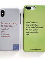 Недорогие -Кейс для Назначение Apple iPhone XS / iPhone XR / iPhone XS Max IMD / Ультратонкий / Матовое Кейс на заднюю панель Слова / выражения ТПУ