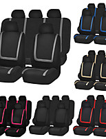 Недорогие -универсальный чехол для сиденья автомобиля ткань из полиэстера автомобиль чехол для сиденья протектор сиденья аксессуары для интерьера-9 шт.