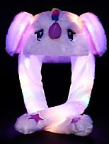 Недорогие -единорог светящаяся шляпа милый ребенок щепотка ушей будет двигаться милые дети чистая забавный подарок игрушка для девочек подруга
