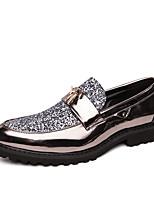 Недорогие -Муж. Комфортная обувь Полиуретан Осень На каждый день Мокасины и Свитер Нескользкий Черный / Золотой / Серебряный