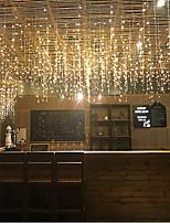 Недорогие -3 * 0,5м Гирлянды 96 светодиоды Тёплый белый / RGB / Белый Творчество / Для вечеринок / Декоративная 220-240 V / 110-120 V 4шт