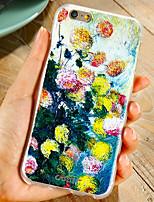Недорогие -Кейс для Назначение Apple iPhone XS / iPhone XR / iPhone XS Max Защита от пыли / Ультратонкий / С узором Кейс на заднюю панель Цветы ТПУ