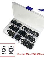 Недорогие -280шт внутренний зуб звездочный замок толчок стопорная шайба скорость зажим комплект классификации классификация (упаковка коробки)