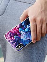 Недорогие -чехол для apple, iphone 8 plus / iphone 7 plus, пыленепроницаемый / выкройка задней крышки, цветной градиент, мягкое тпу / водонепроницаемый / голый, машина ощущается матовой текстурой, модный корпус,