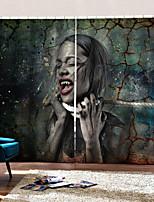 Недорогие -Роскошь уф цифровая печать шторы впечатление масляной живописи личности оригинальные занавес затемнения на заказ готовые для декора