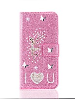 cheap -Case For Samsung Galaxy S20 Ultra /S20 Plus/S10 Plus Wallet / Card Holder / with Stand Glitter Shine Angel PU Leather Case For Samsung S9 Plus /S8 Plus /S7 Edge/Note 10 Pro /A51/A71