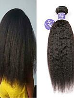 Недорогие -3 Связки Индийские волосы Вытянутые Не подвергавшиеся окрашиванию Необработанные натуральные волосы Человека ткет Волосы Удлинитель Пучок волос 8-28 дюймовый Нейтральный Ткет человеческих волос