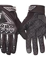 Недорогие -перчатки для езды на мотоцикле защитные перчатки с сенсорным экраном для пальцев / спортивные перчатки для активного отдыха - черные