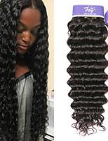 Недорогие -3 Связки Индийские волосы Крупные кудри Необработанные натуральные волосы 100% Remy Hair Weave Bundles Человека ткет Волосы Удлинитель Пучок волос 8-28 дюймовый Нейтральный Ткет человеческих волос