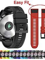 Недорогие -Ремешок для часов для Fenix 5x Plus Garmin Классическая застежка силиконовый Повязка на запястье