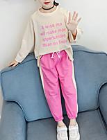 Недорогие -Дети Дети (1-4 лет) Девочки Классический Уличный стиль На выход На каждый день С принтом С принтом Кулиска Длинный рукав Короткий Короткая Набор одежды Черный