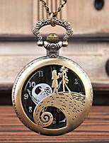 Недорогие -Муж. Карманные часы Кварцевый Старинный Творчество Новый дизайн Аналого-цифровые Винтаж - Черный Бронзовый Серебряный