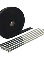 Недорогие -15 м * 2 рулона - стекловолоконная выхлопная колпачок, ширина 5 см, длина 15 м для мотоциклетной трубки, теплозащитная лента - черная длина (м) -15 м * 2 рулона