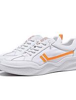 Недорогие -Муж. Комфортная обувь Кожа Весна Кеды Белый / Желтый / Синий