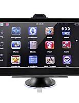 Недорогие -7-дюймовый автомобильный GPS-навигатор 256/8 ГБ Bluetooth AV-FM передатчик с бесплатными картами поддерживает громкую камеру заднего вида