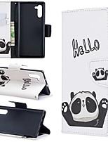 Недорогие -Кейс для Назначение SSamsung Galaxy Note 9 / Note 8 / Galaxy Note 10 Кошелек / Бумажник для карт / Защита от удара Чехол Панда Кожа PU