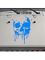 Недорогие -модный кузов автомобиля сделай сам водонепроницаемый кровавые черепа стильные наклейки этикеты