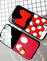 Недорогие -Кейс для Назначение Apple iPhone XS / iPhone XR / iPhone XS Max Зеркальная поверхность / Ультратонкий / С узором Кейс на заднюю панель Мультипликация ТПУ