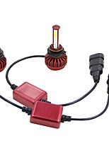 Недорогие -1 пара 80 Вт удара светодиодные фары автомобиля комплект hb3 / 9005 / h10 6000 К 8000lm противотуманные фары спрятал лампы стандартное напряжение 12 В