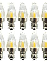 Недорогие -10 шт. 3 W Двухштырьковые LED лампы 300 lm E14 G9 G4 T 1 Светодиодные бусины COB Диммируемая Новый дизайн Тёплый белый Белый 220-240 V 110-120 V