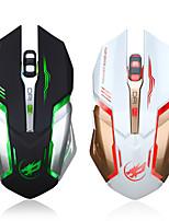 Недорогие -caseier T1 Беспроводная 2.4G Gaming Mouse / Зарядка мыши Многоцветная подсветка 2400 dpi 6 pcs Ключи