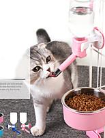 Недорогие -Собаки Кролики Коты Миски и бутылки с водой / Кормушки 0.25 L пластик ABS + PC Регулируется / Выдвижной Влажная чистка На каждый день Однотонный Синий Розовый Чаши и откорма