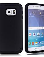 Недорогие -Кейс для Назначение SSamsung Galaxy S6 Защита от удара Кейс на заднюю панель Однотонный ТПУ / ПК