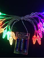 Недорогие -3M Гирлянды 20 светодиоды Разные цвета Декоративная 3 V 1 комплект