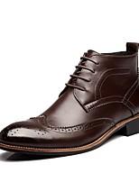 Недорогие -Муж. Армейские ботинки Полиуретан Наступила зима Ботинки Сапоги до середины икры Черный / Коричневый