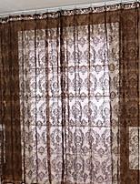 Недорогие -Современный Прозрачный 1 панель Прозрачный Спальня   Curtains