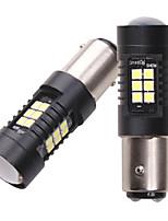 Недорогие -2шт 12v p21 / 5w bay15d 1157 3030 21 фишек светодиодный автомобильный резервный фонарь сигнала торможения указатель поворота canbus