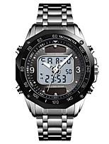 Недорогие -SKMEI Муж. электронные часы Цифровой Нержавеющая сталь Черный / Серебристый металл 30 m Защита от влаги будильник Хронометр Аналого-цифровые На открытом воздухе Мода -