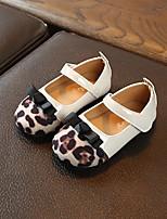Недорогие -Девочки Обувь для малышей Синтетика На плокой подошве Малыш (9м-4ys) Черный / Бежевый Весна