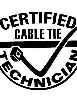 Недорогие -мода сертифицированные кабельные стяжки техник письма смешные украшения автомобиля наклейки