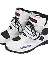 Недорогие -Мягкие мотоциклетные ботинки байкера водонепроницаемые моторные лодки для мужчин мотокросс сапоги нескользящие мотоциклетные туфли us size9.5