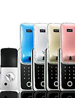 Недорогие -скользить новые стеклянные двери одинарные и двойные открытая рама дверь отпечатков пальцев замок полупроводниковые интеллектуальные электронные карты пароль блокировки