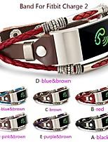 Недорогие -Ремешок для часов для Fitbit Charge 2 Fitbit Современная застежка Натуральная кожа Повязка на запястье