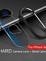 Недорогие -стекло для iphone xs max xr x 10 7 8 плюс 9h твердость объектива камеры закаленное стекло + металлическое заднее защитное кольцо для объектива для iphone