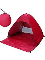 Недорогие -3 человека Тент для пляжа Туристическое укрытие для экстренных ситуаций На открытом воздухе Легкость С защитой от ветра Устойчивость к УФ Однослойный Автоматический Палатка 1000-1500 mm для