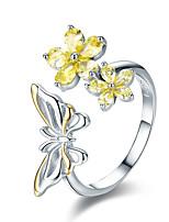 Недорогие -2019 новая серебряная танцующая бабочка 925 пробы&усилитель; цветок регулируемый женский кольцо модное кольцо роскошные ювелирные изделия анель