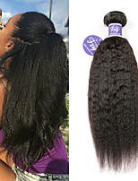 Недорогие -3 Связки Малазийские волосы Вытянутые Не подвергавшиеся окрашиванию Необработанные натуральные волосы Человека ткет Волосы Удлинитель Пучок волос 8-28 дюймовый Нейтральный Ткет человеческих волос