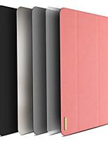 Недорогие -Кейс для Назначение Apple iPad Mini 5 Защита от удара / со стендом / Авто Режим сна / Пробуждение Чехол Однотонный Кожа PU / ТПУ