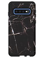 Недорогие -Кейс для Назначение SSamsung Galaxy Galaxy S10 / Galaxy S10 Plus / Galaxy S10 E Защита от удара Кейс на заднюю панель Цветы / Мрамор ПК / силикагель