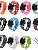 Недорогие -ремешок для часов для Fitbit Blaze Спортивный ремешок FitBit / классический пряжка силиконовый ремешок