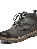 Недорогие -Муж. Армейские ботинки Полиуретан Весна лето На каждый день Ботинки Черный / Серый / Хаки